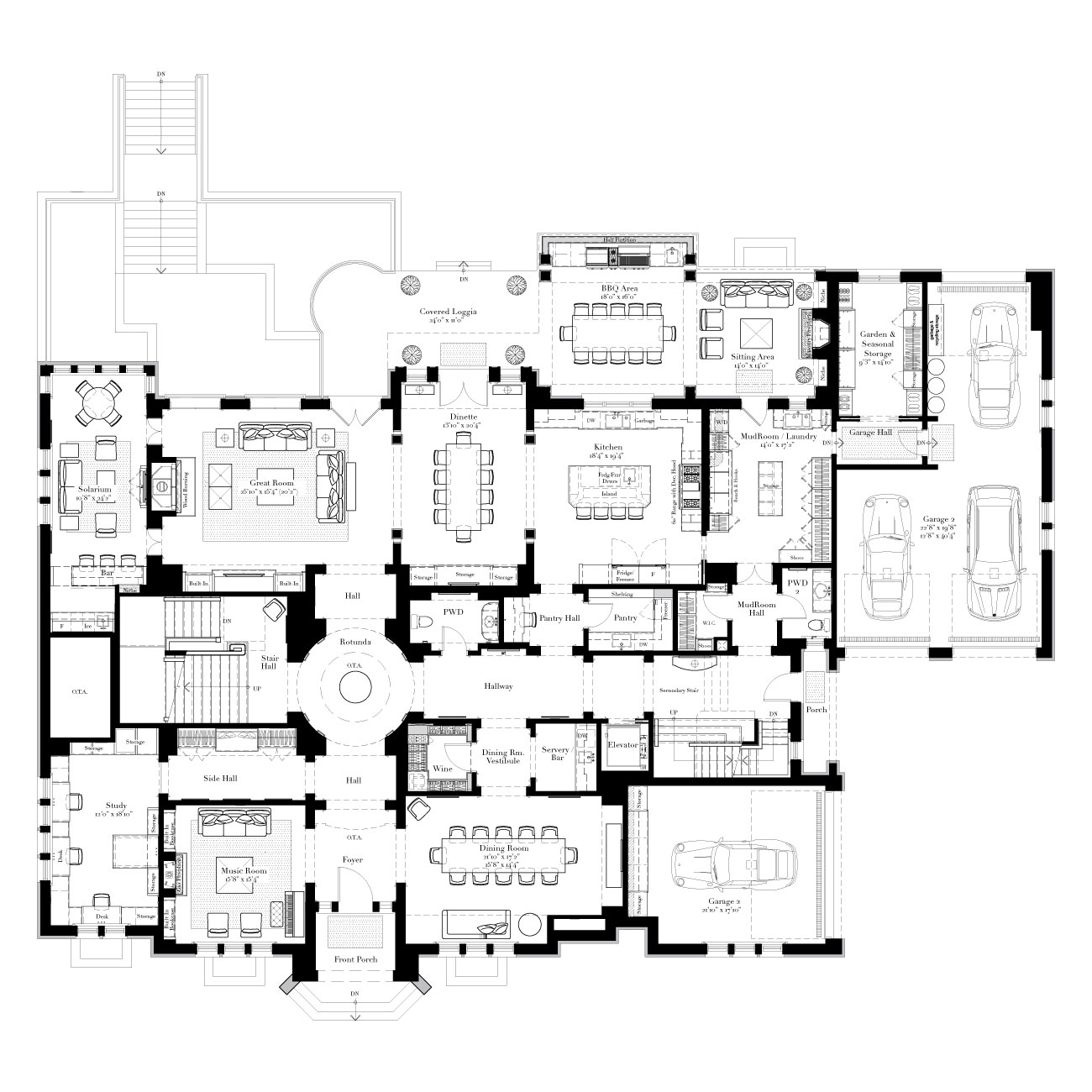 1000 images about plans elevations on pinterest floor for Large estate home plans
